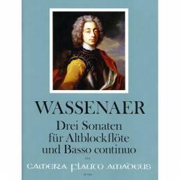 Wassenaer, Drei Sonaten für Altblockflöte und Basso continuo